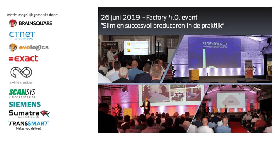 """Factory 4.0. """"slim en succesvol produceren in de praktijk"""" door BrainSquare"""