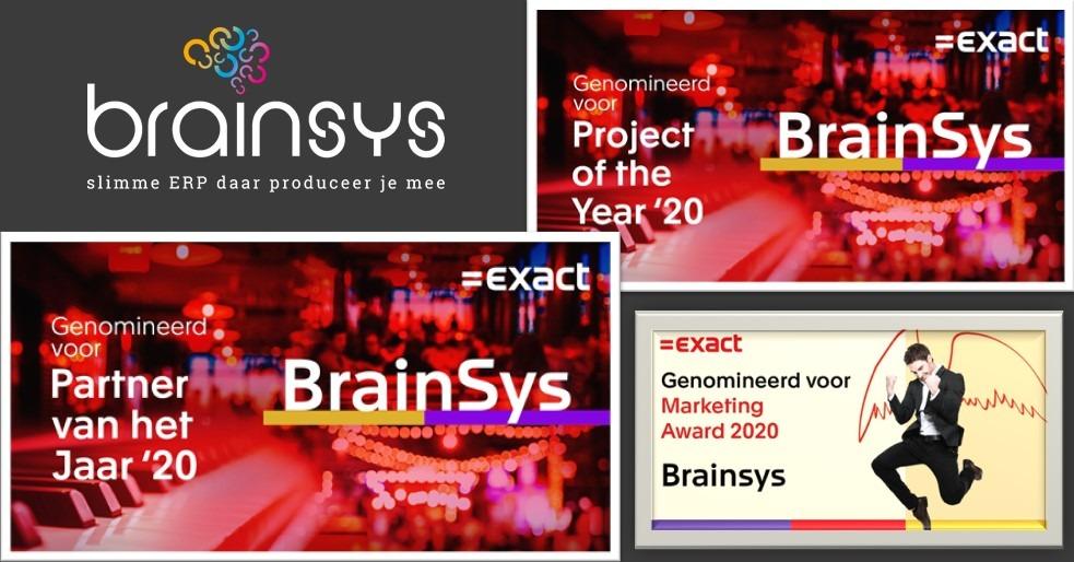 BrainSys 3x genomineerd door Exact